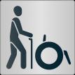 """Piktogramm """"Menschen mit Gehbehinderung"""""""