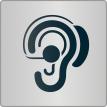 """Piktogramm """"Menschen mit Hörbehinderung"""""""